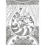 Раскраска-антистресс  Коты и волшебные миры